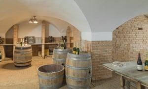 The wine cellar at Barrington Hall.
