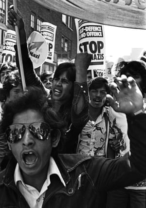 Young Bengalis protesting in Brick Lane, London, after a racist murder in 1978