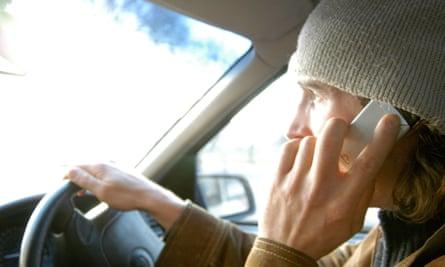 Using mobile at wheel
