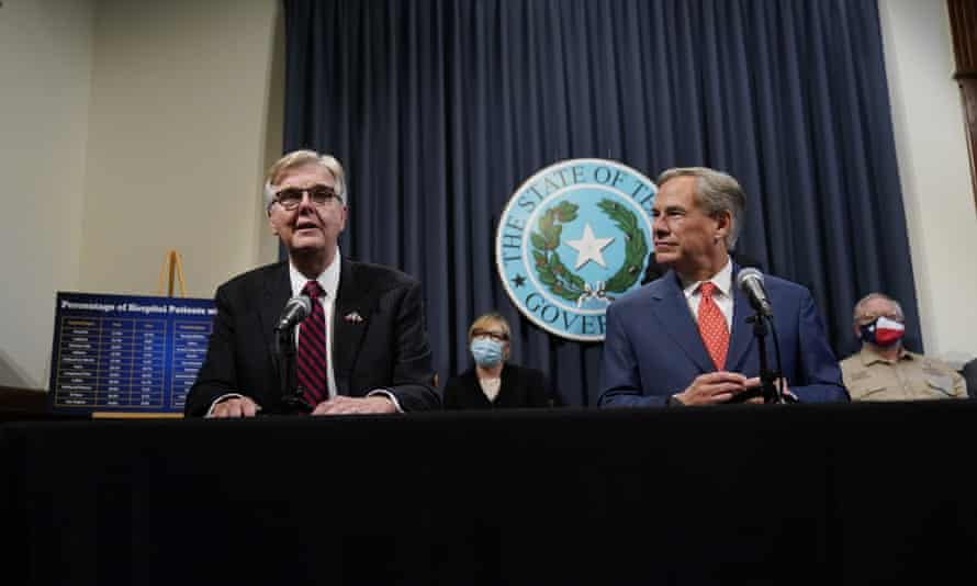 Texas Lt Gov Dan Patrick, left, offered a massive monetary bounty to anyone with proof of voter fraud. So far he hasn't paid any money.