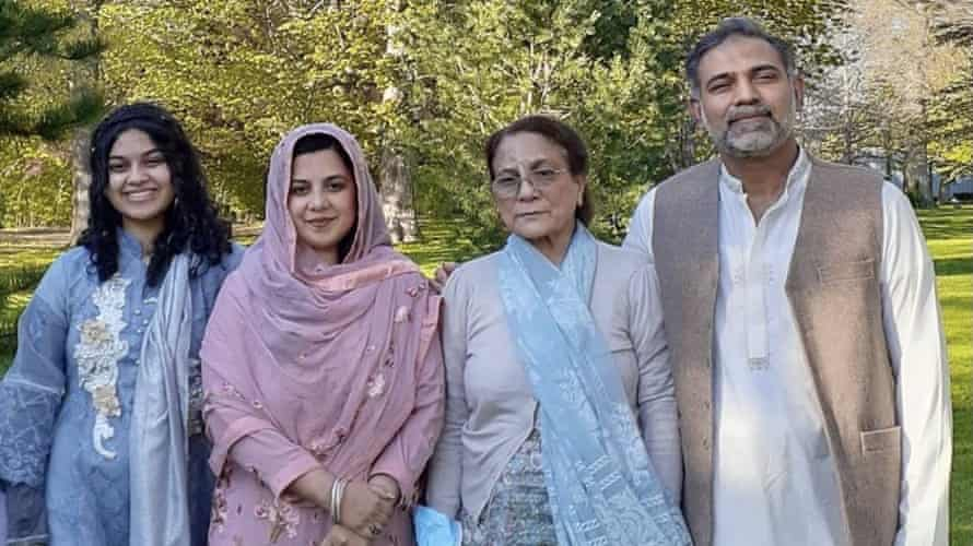 From left to right: Yumna Afzaal, Madiha Salman, Talat Afzaal and Salman Afzaal were killed when a man plowed his pickup truck into them.