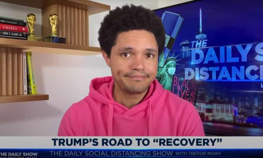 Trevor Noah on Trump's return to rallies: 'It looks like Trump has emerged from his battle with the deadly virus and it's made him horny as hell.'