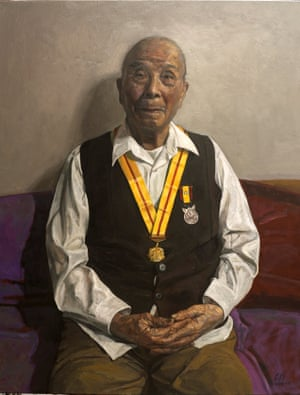 Artist's father-in-law on his 100th Birthdayby Jiawei Shen; sitter: artist's father-in-law