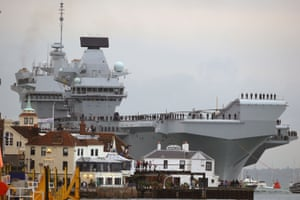 The 65,000-tonne carrier, the largest warship ever to be built in Britain