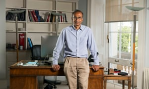 venkatraman ramakrishnan leans on his desk in his office at the royal society in london