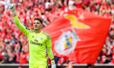Ederson is leaving Benfica after two seasons in Lisbon.