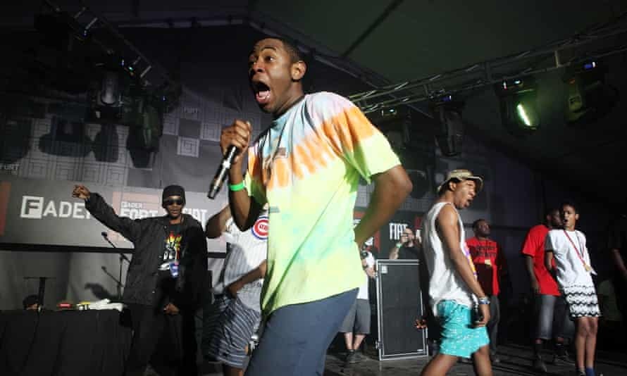 Tyler, The Creator with hip-hop collective Odd Future during the SXSW music festival in Texas.