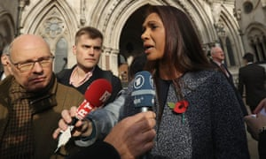 Gina Miller, who jointly brought the case, outside the high court after the judges' ruling.