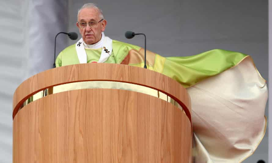 Pope Francis leads the World Meeting of Families closing mass in Phoenix Park, Dublin, on Sunday
