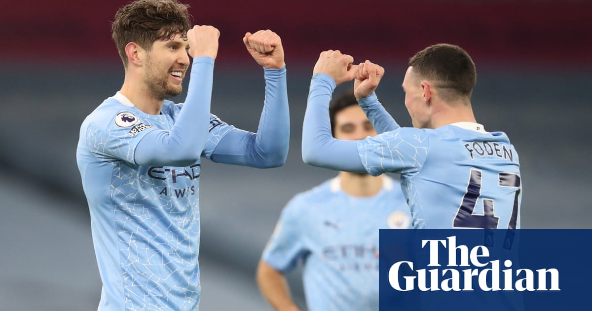 John Stones double sinks Crystal Palace as Manchester City close gap at top