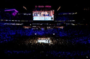 A general view of the T-Mobile Arena during round two.