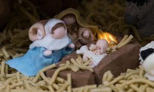 Fruitcake nativity