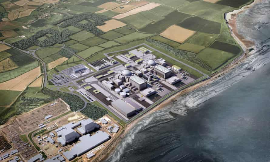 A computer-generated image of the EDF's Hinkley Point C nuclear reactor.