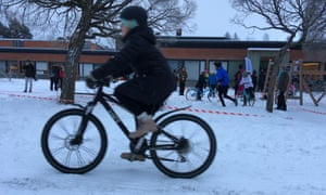 a child on a bike in Joensuu