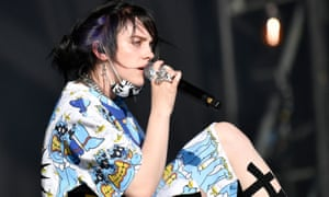 Billie Eilish performs on the Other Stage on the Sunday of the Glastonbury Festival in Pilton, Britain, 30 June 2019. Glastonbury Festival of Contemporary Performing Arts runs from 26 to 30 June. EPA/NEIL HALL