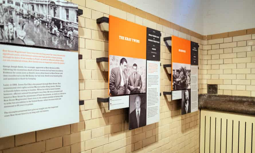 Information displays at Bow Street Police Museum