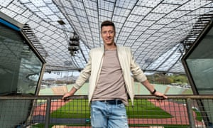 Robert Lewandowski at the Olympiastadion in Munich, where Poland won Olympic gold in 1972.