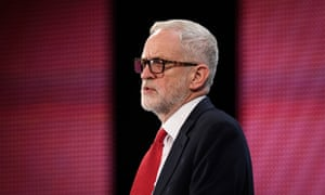 Jeremy Corbyn speaking at the CBI.