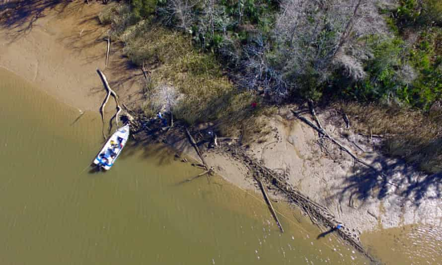 The remains of the ship found north of Mobile this month. Archaeologists say they may have located the long-lost wreck of the Clotilda.