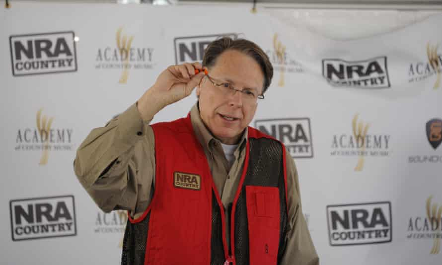 Wayne LaPierre of the National Rifle Association of America speaks at the NRA Country ACM Celebrity Shoot