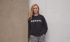 Anna Cosgrave, designer of the Repeal jumper.