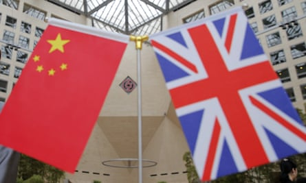 Sino-British relations have been strained in recent weeks over the democracy protests in Hong Kong.