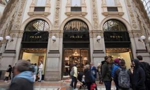 Prada's Milan store.