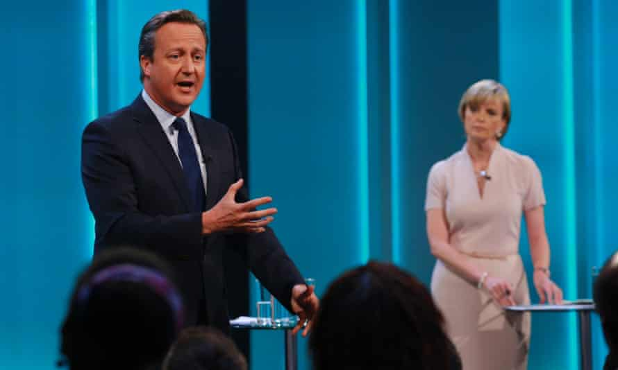 David Cameron during the ITV EU referendum Q&A, moderated by Julie Etchingham.