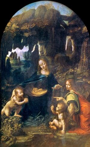 The Virgin of the Rocks, 1483-85 by Leonardo da Vinci