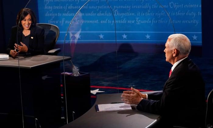 Kamala Harris and Mike Pence clash over coronavirus response in vice-presidential debate