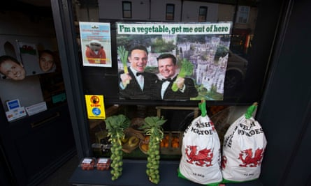A shop front in Abergele.