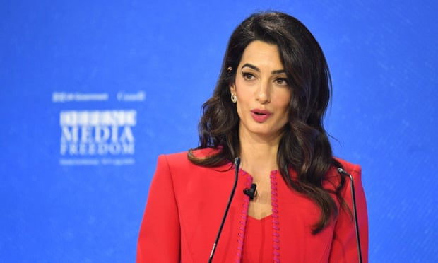Trump's rhetoric 'makes journalists vulnerable to abuse', says Amal Clooney