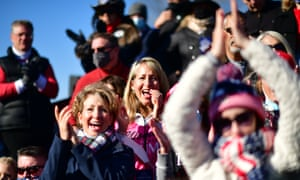Trump supporters in Newtown, Pennsylvania on Saturday.