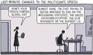 The politician's speech