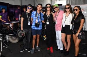 Catherine Zeta Jones and Michael Douglas pose for a picture