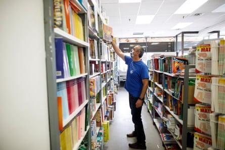 Yoram Batner at his bookshop.