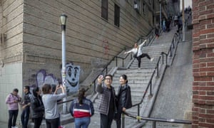 The much-photographed Bronx staircase from Joker