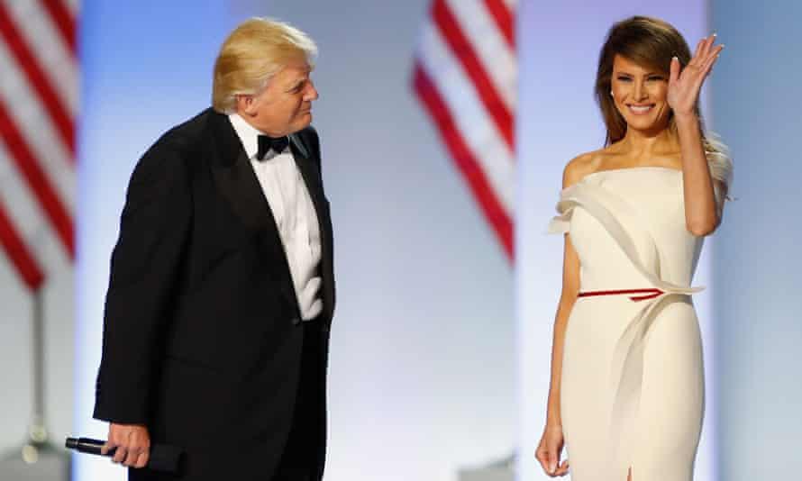 Donald Trump introduces Melania at the Freedom Inaugural Ball.
