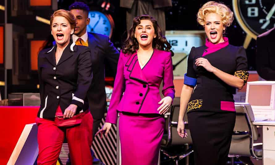 Caroline Sheen, Amber Davies and Natalie McQueen in 9 to 5 The Musical.