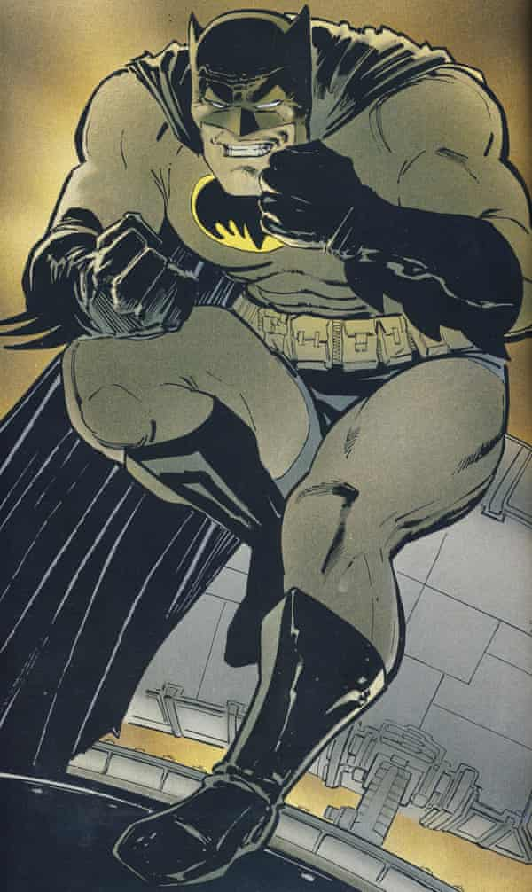 A panel from The Dark Knight Returns.