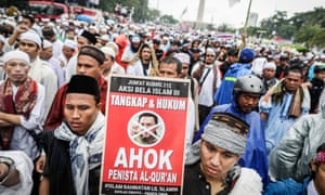Muslims protest against Ahok in 2016