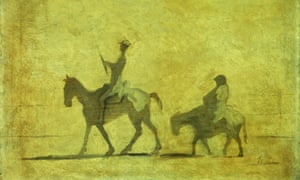 Honoré Daumier's print Don Quixote and Sancho Panza.