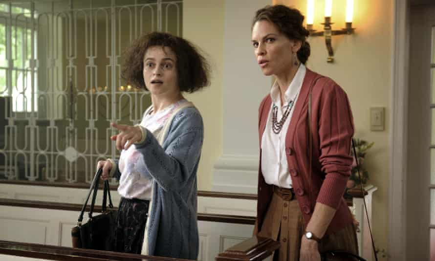 Bonham Carter as Eleanor Riese, with Hilary Swank as her lawyer Colette Hughes, in 55 Steps