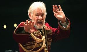 A royal row ... Ian McKellen as King Lear in 2007.