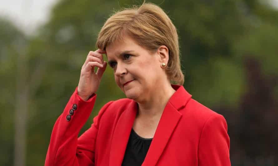 Nicola Sturgeon in Glasgow, 6 September 2021
