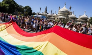 A recent Brighton Pride. Stonewall has defended its merchandise partnership with Primark.