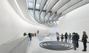 The curving gallery of Zaha Hadid's Maxxi museum in Rome.