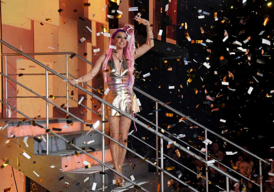 Courtney Act winning Celebrity Big Brother in 2018.