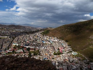 One of the most dangerous neighbourhoods in the Sierra de Guadalupe, known as Urbanistas