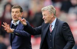 Sunderland's David Moyes and his West Ham counterpart, Slaven Bilic